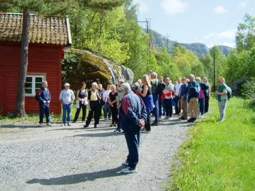 Vi ankommer Høylandsfossen kraftverk